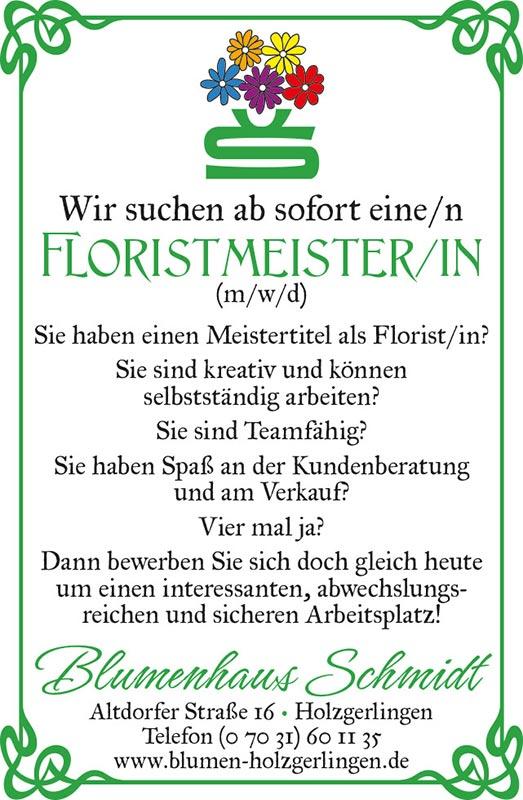 Florist gesucht